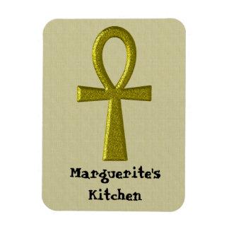 Fancy Gold Ankh Flex Megnet Magnet