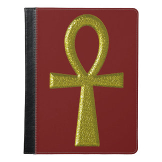 Fancy Gold Ankh iPad Case