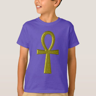 Fancy Gold Ankh Kids' Clothing T-Shirt