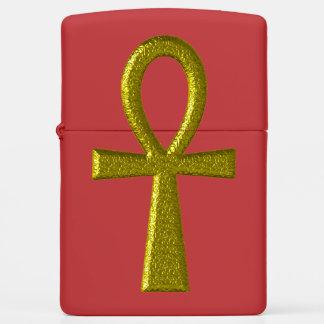 Fancy Gold Ankh Zippo Lighter