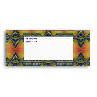 fancy gold blue envelopes