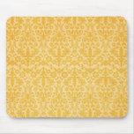 Fancy Gold Damask Pattern Mousepad
