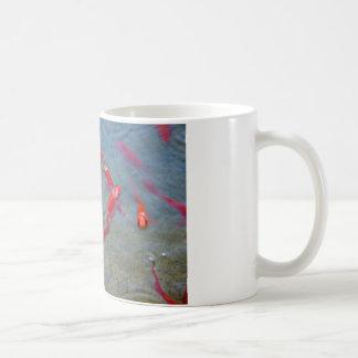 fancy gold fish coffee mug
