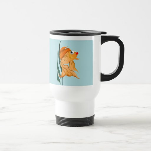 Fancy Gold Fish Mug