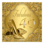 Fancy Gold High Heel Fabulous 40th Birthday Card