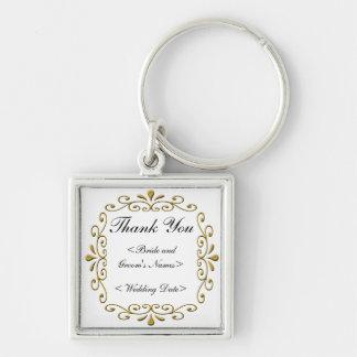 Fancy Gold Wedding Frame Key Chain