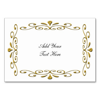 fancy Gold Wedding Frame with text Card