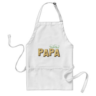 Fancy Gold World's Best Papa Adult Apron