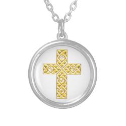 Fancy Golden Cross Pendant