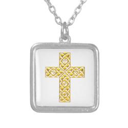 Fancy Golden Cross Pendants