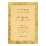 "Fancy Golden Fall Wedding Invitation 5"" X 7"" Invitation Card"