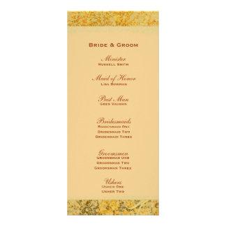Fancy Golden Fall Wedding Program Rack Card Template