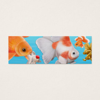 Fancy Goldfish Bookmark Mini Business Card