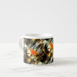 Fancy Goldfish Faces Watercolor Image Espresso Cup
