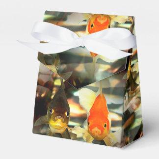 Fancy Goldfish Faces Watercolor Image Favor Box