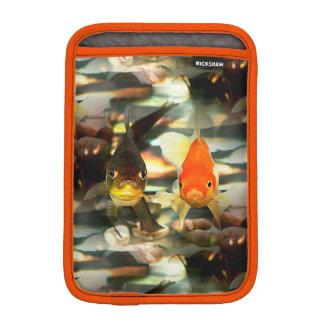 Fancy Goldfish Faces Watercolor Image iPad Mini Sleeve