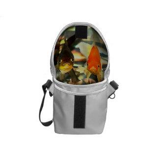 Fancy Goldfish Faces Watercolor Image Messenger Bag