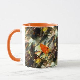 Fancy Goldfish Faces Watercolor Image Mug
