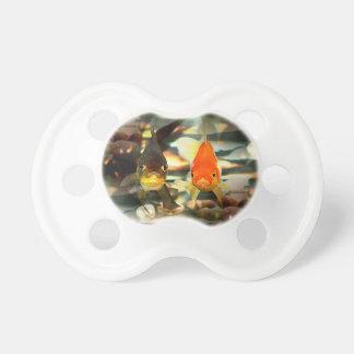 Fancy Goldfish Faces Watercolor Image Pacifier