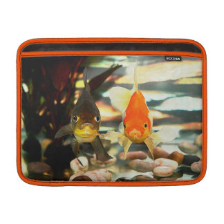 Fancy Goldfish Faces Watercolor Image Sleeve For MacBook Air