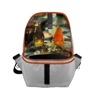 Fancy Goldfish Faces Watercolor Image Small Messenger Bag