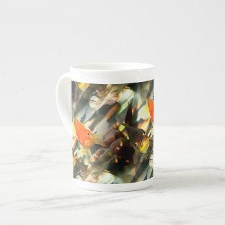 Fancy Goldfish Faces Watercolor Image Tea Cup
