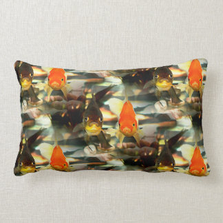 Fancy Goldfish Faces Watercolor Image Throw Pillow