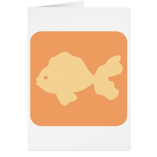 Fancy Goldfish Icon Greeting Card