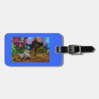 Fancy Goldfish Lionhead Black Moor Luggage Tag