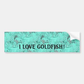 Fancy Goldfish Seafoam Green Car Bumper Sticker