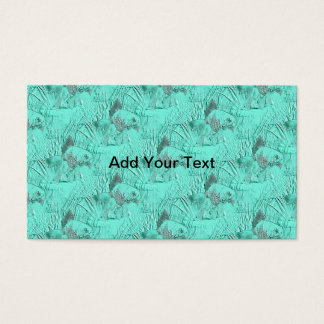 Fancy Goldfish Seafoam Green Business Card