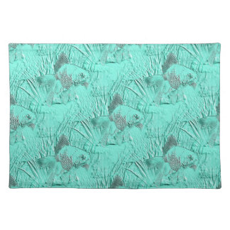 Fancy Goldfish Seafoam Green Cloth Placemat