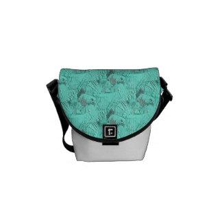 Fancy Goldfish Seafoam Green Courier Bag