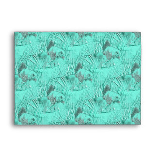 Fancy Goldfish Seafoam Green Envelope
