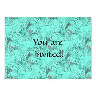 Fancy Goldfish Seafoam Green 5x7 Paper Invitation Card