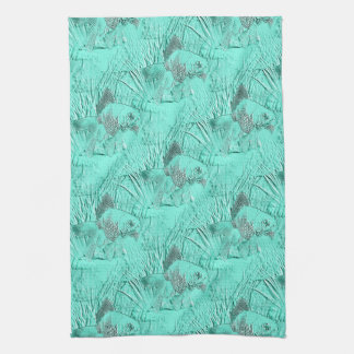 Fancy Goldfish Seafoam Green Kitchen Towel