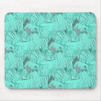 Fancy Goldfish Seafoam Green Mouse Pad