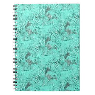 Fancy Goldfish Seafoam Green Spiral Note Books
