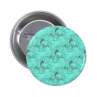 Fancy Goldfish Seafoam Green Pinback Button