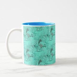 Fancy Goldfish Seafoam Green Two-Tone Coffee Mug