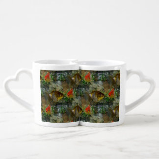 Fancy Goldfish Shimmer Couples Coffee Mug