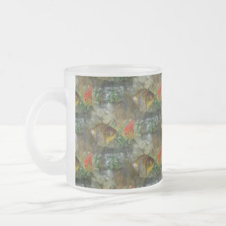 Fancy Goldfish Shimmer Frosted Glass Coffee Mug
