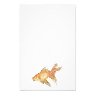 Fancy goldfish. stationery