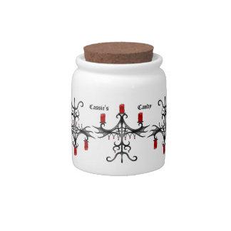 Fancy gothic candelabra candy jar