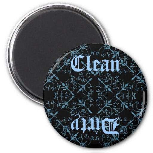 Fancy Gothic clean or dirty diswasher magnet Magnets