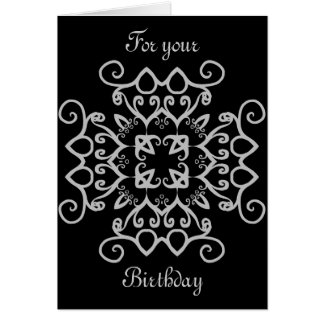 Fancy gothic victorian birthday all occasion card