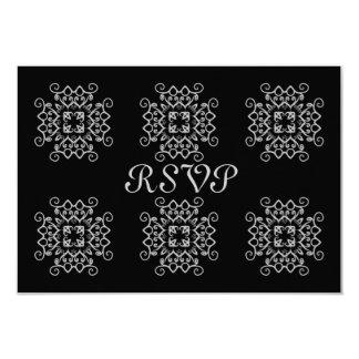 Fancy gothic victorian RSVP Card