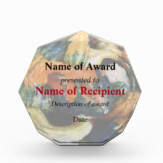 Fancy Gourds Acrylic Award