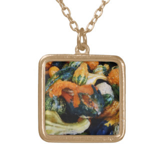 Fancy Gourds Square Pendant Necklace