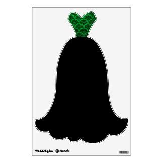 Fancy Green Black Dress Evening Gown Wall Decal